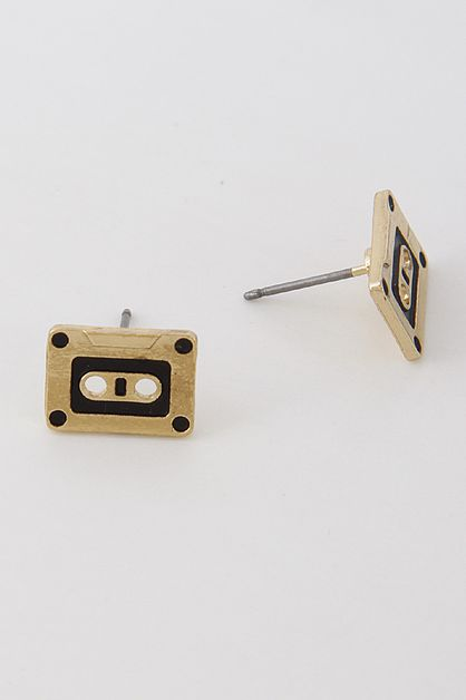 CASSETTE TAPE INSPIRED EARRINGS - orangeshine.com
