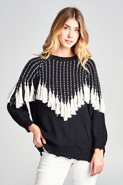 Tassel Sweater  - orangeshine.com