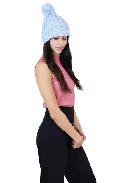 Colorful Knit Pom Pom Beanie - orangeshine.com