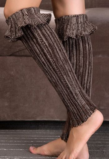 Ruffle Top Leg Warmers - orangeshine.com