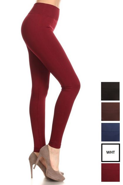 Mid Waist Full Lenght Leggings_Thick - orangeshine.com