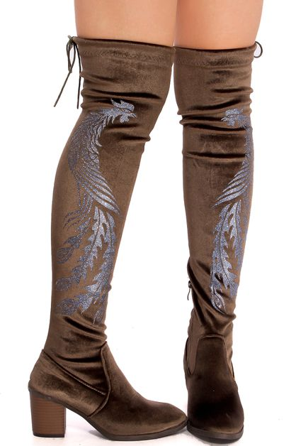 over the knee boot - orangeshine.com