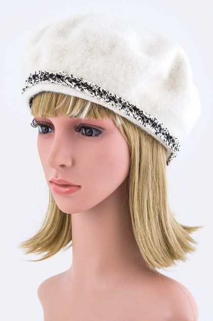 Wool Beret with Sparkly Band - orangeshine.com