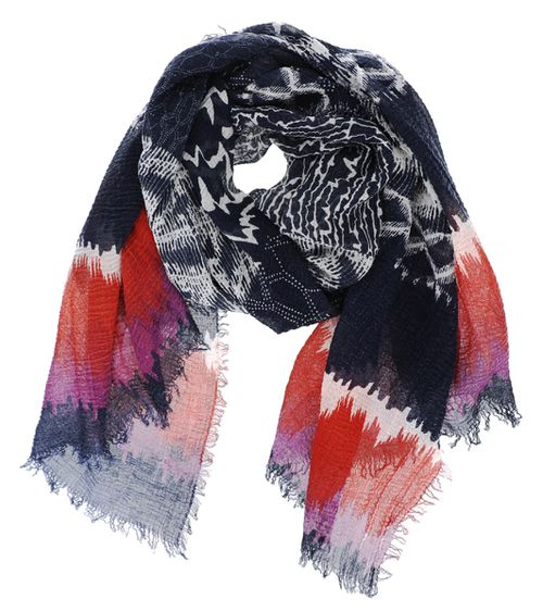 Multi Pattern Colorful Oblong Scarf - orangeshine.com