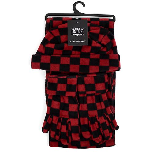 6pc Womens Fleece Checkered Set - orangeshine.com