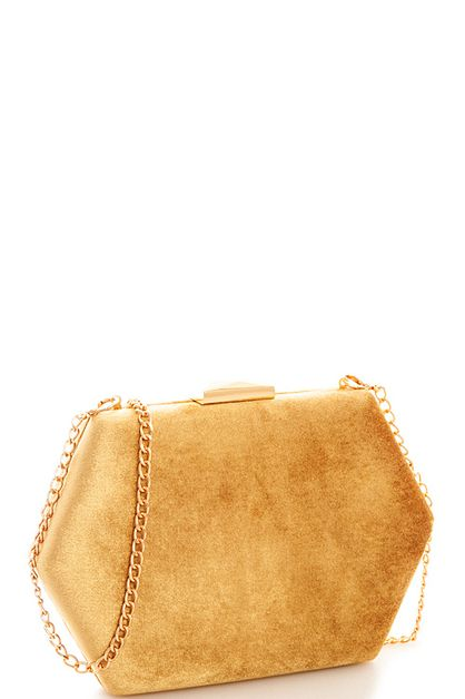 Soft Hexagonal Clutch - orangeshine.com