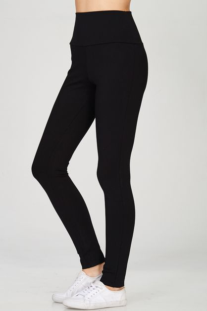 High Waisted Long Ponte Pants - orangeshine.com