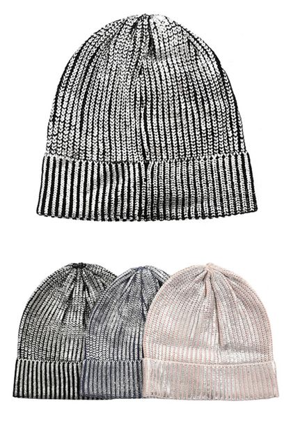 SEQUIN TRIMMED BEANIE HAT - orangeshine.com