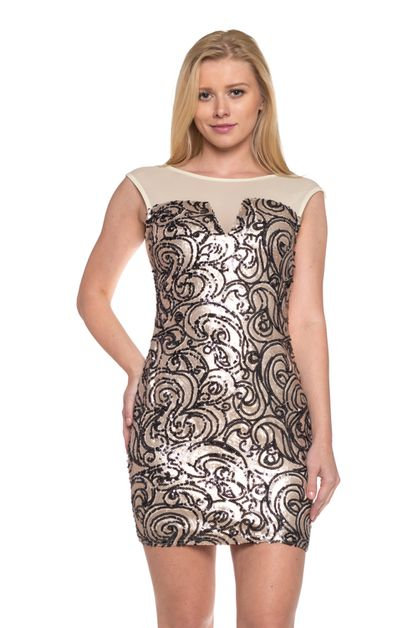 Sequin mesh sexy party dress - orangeshine.com