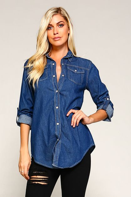 Denim Shirt - orangeshine.com