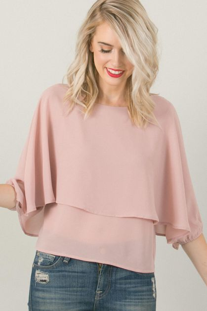 Pink Flowy Top - orangeshine.com