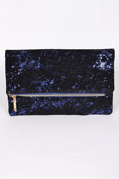 SHINY SEQUINED CLUTCH - orangeshine.com