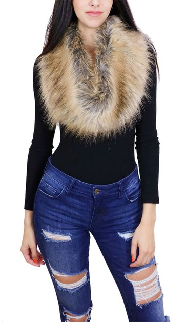 Faux Fur Fashion Scarf - orangeshine.com