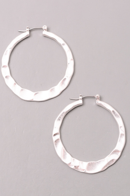 SOLID DIMPLED HOOP EARRINGS - orangeshine.com