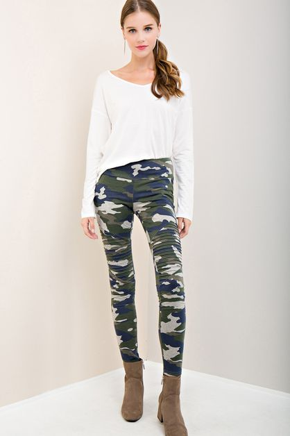 CAMO PRINT LEGGINGS - orangeshine.com