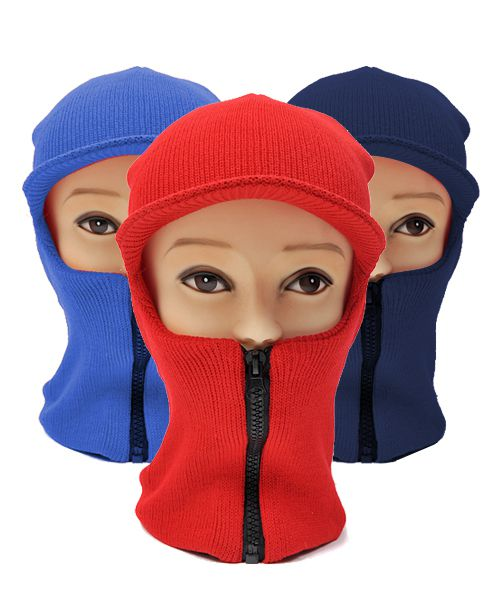 12pc Ski Mask with Visor Zipper - orangeshine.com