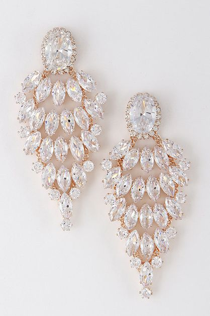 FANCY CHANDELIER EARRINGS - orangeshine.com