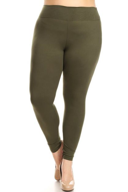 WIDE BAND SOFT LEGGINGS - orangeshine.com