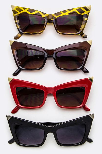 Iconic Angular Frame Sunglasses - orangeshine.com