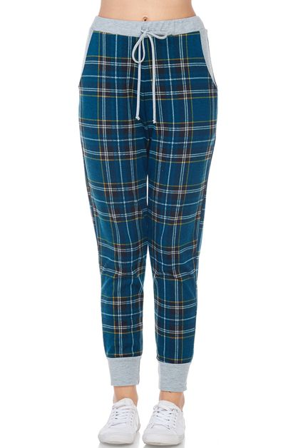 PLAID JOGGER  - orangeshine.com