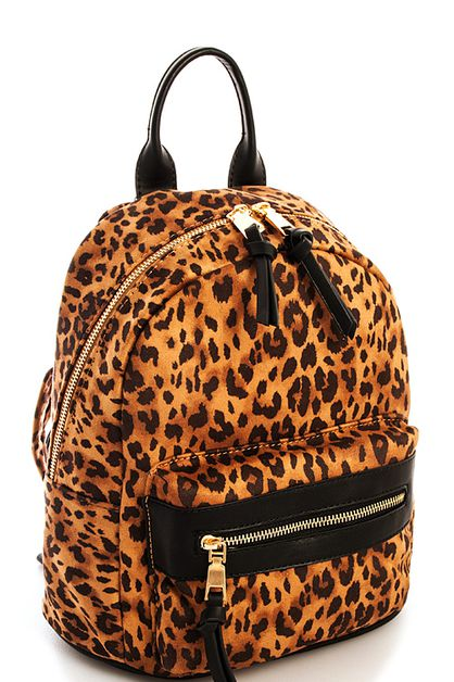 Fashion Leopard Backpack - orangeshine.com