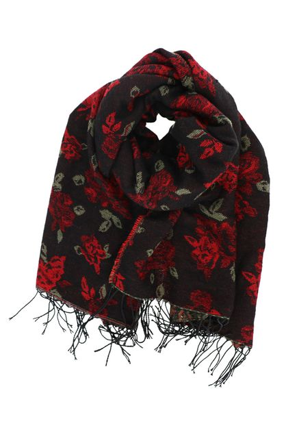 Floral Rose Oblong Scarf - orangeshine.com