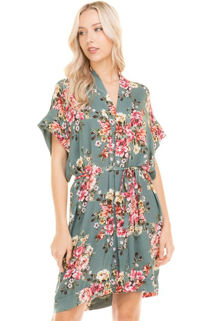Floral printed loose fit drop should - orangeshine.com