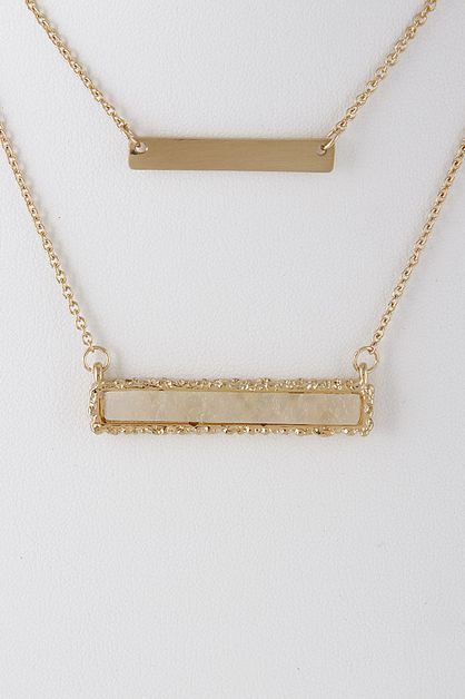 LAYERED BARS NECKLACE - orangeshine.com