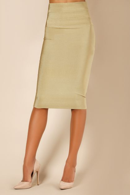 High Waisted Pencil Skirt - orangeshine.com