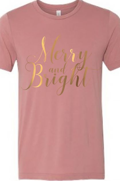 Merry And Bright Rose Gold Triblend - orangeshine.com