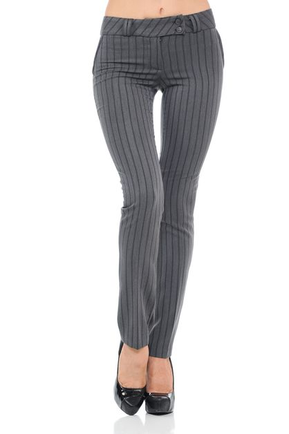 High Waist Striped Full Length Butto - orangeshine.com