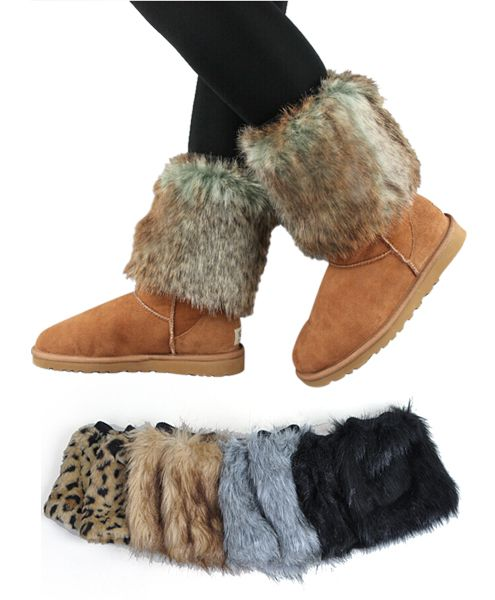 12pc Prepack Faux Fur Leg Warmers - orangeshine.com