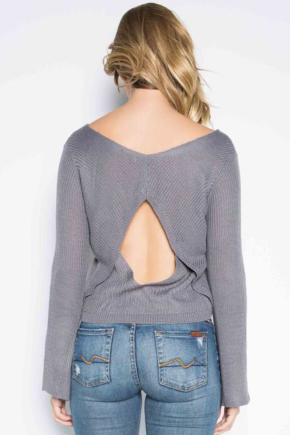 CUTOUT BACK SWEATER - orangeshine.com