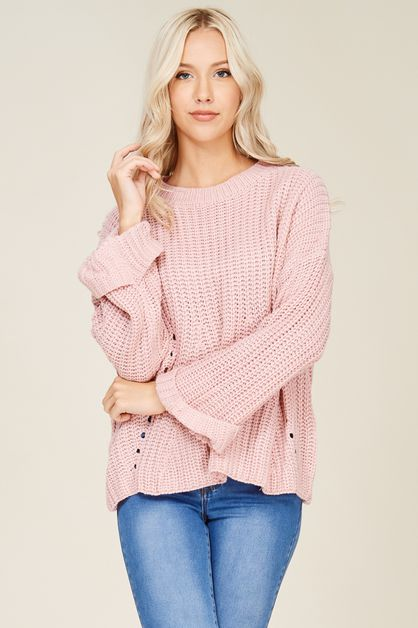 Distressed Sweater Pullover - orangeshine.com