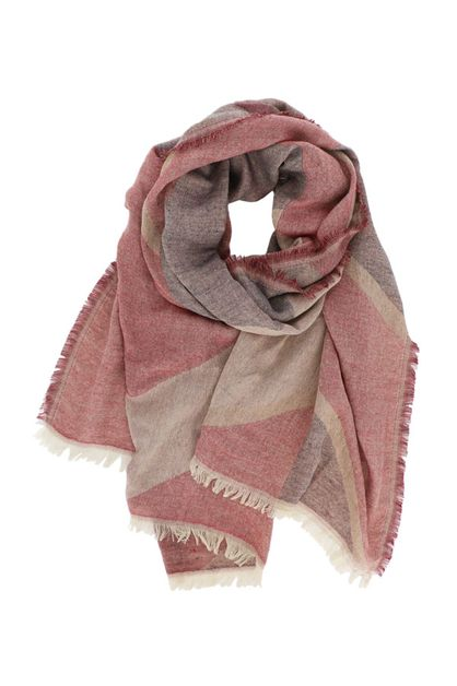 Chevron Print Faded Oblong Scarf - orangeshine.com