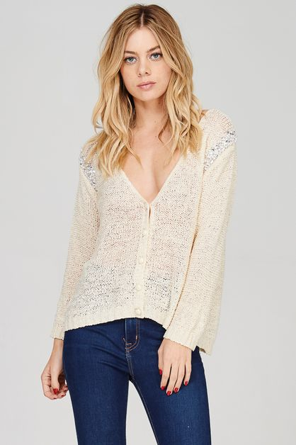 Button Down Sweater Cardigan - orangeshine.com