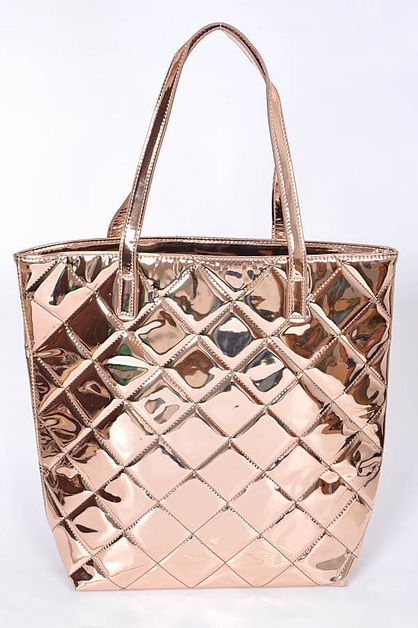 METALLIC QUILTED PURSE - orangeshine.com