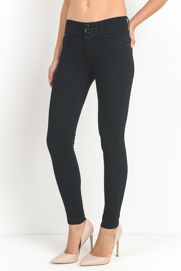 Tri-button Skinny Pants - orangeshine.com