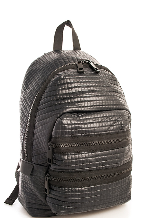 Hot Trendy Textured Backpack - orangeshine.com