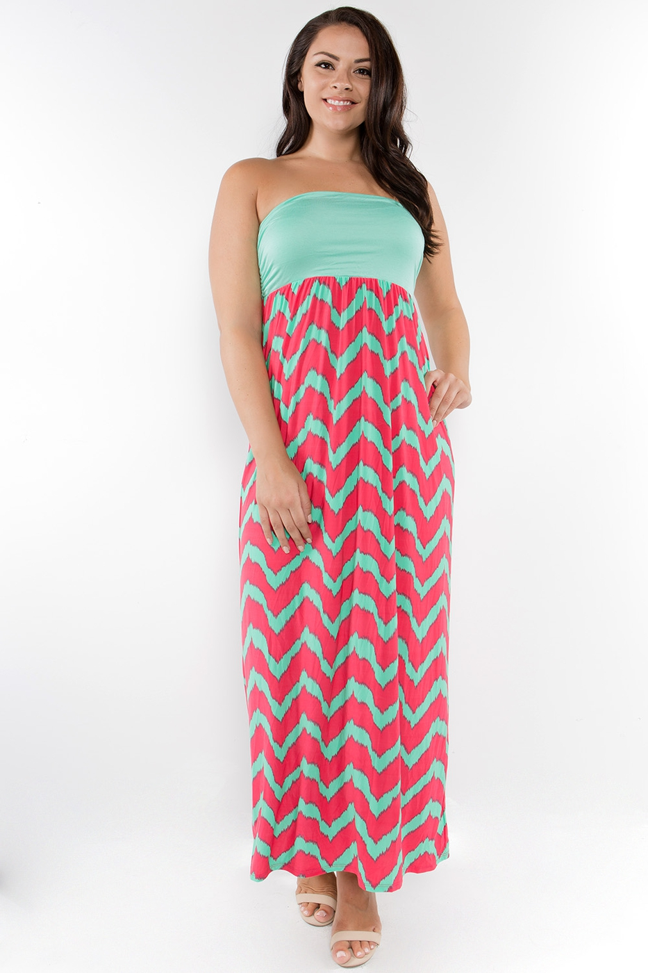 SLRD Striped Strapless Long Dress - orangeshine.com
