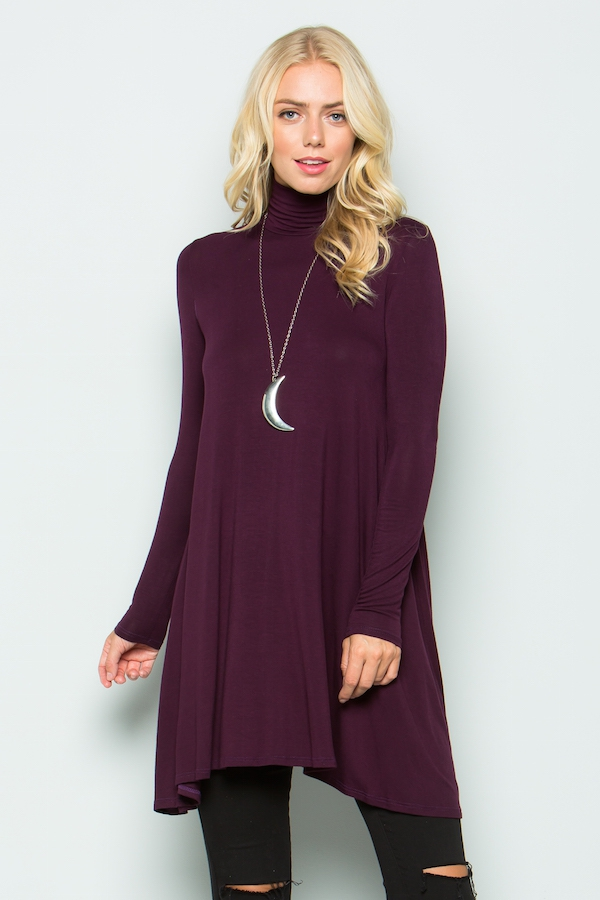 Mock neck TUNIC - orangeshine.com