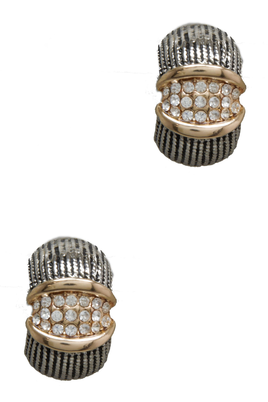 CRYSTAL PAVE CLIP ON EARRING - orangeshine.com
