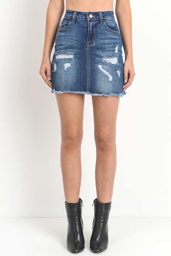 Denim Skirt - orangeshine.com