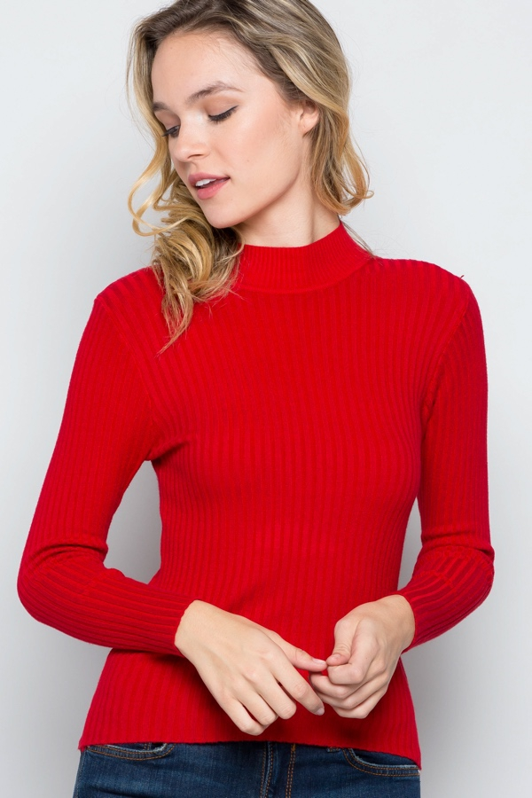 Ribbed Turtleneck - orangeshine.com