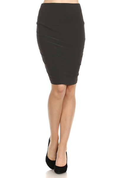 Black Pencil Skirt - orangeshine.com