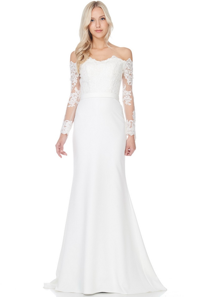 Long Sleeve Wedding Dress - orangeshine.com
