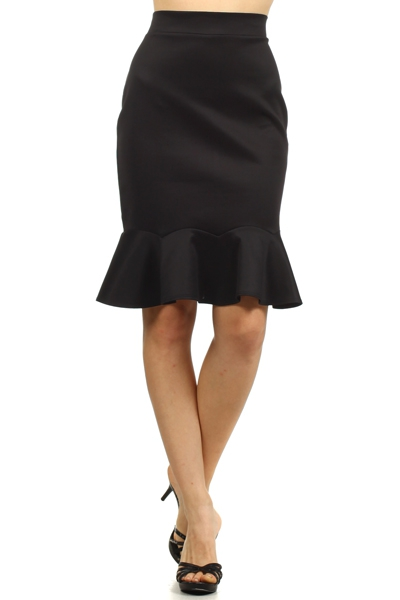 Black Raffle Skirt - orangeshine.com