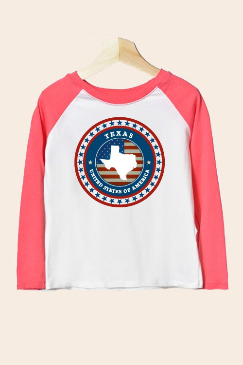 KIDS GRAPHIC BASEBALL LONG SLEEVE - orangeshine.com