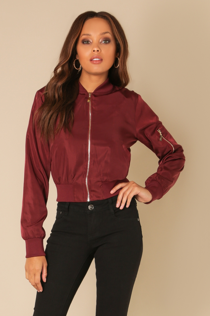 Lace Up Bomber Jacket - orangeshine.com