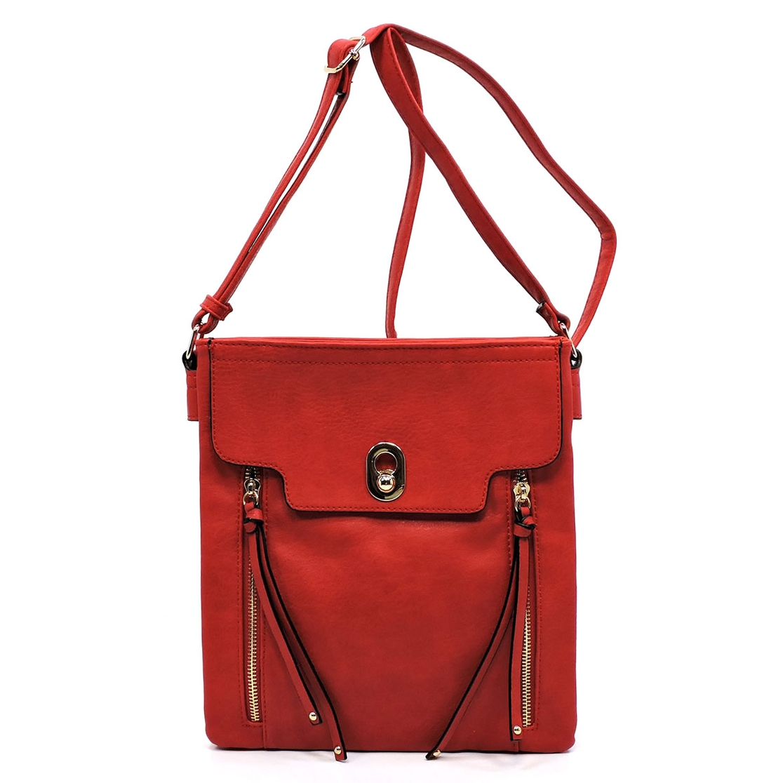 Fashion Zip Crossbody Bag - orangeshine.com